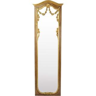 Vintage Italian Gilt Wood Full Length Wall Mirror