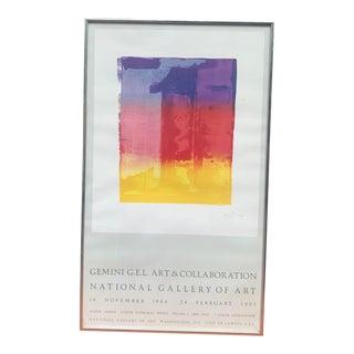 1984 Jasper Johns National Gallery of Art, Framed For Sale