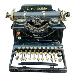 Harris Visible No.4 Typewriter For Sale