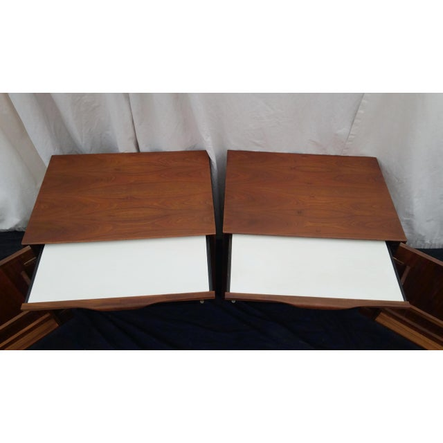 Brown 1970's Mid-Century Modern John Kapel for Glenn of California Side Tables/Nightstands - a Pair For Sale - Image 8 of 11