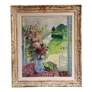 French Floral Still Life Painting by Max Herve For Sale