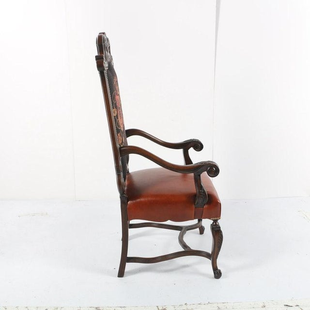 Late 20th Century Vintage Louis XIV Style Armchair For Sale - Image 9 of 11