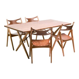 Early Set of Four CH-29 Sawbuck Chairs by Hans Wegner For Sale
