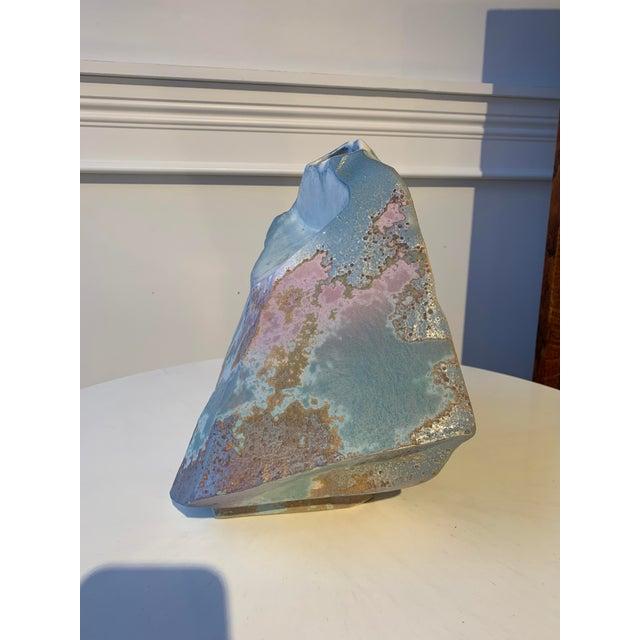 Tony Evans Signed Tony Evans Raku Sculptural Vase For Sale - Image 4 of 7