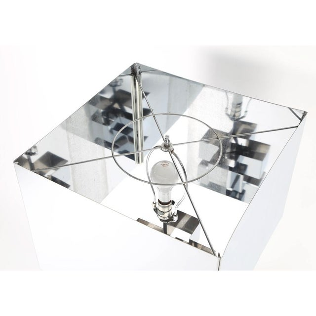 Silver 1970'S VINTAGE C. JERÉ ARTISAN HOUSE CHROME TABLE LAMP For Sale - Image 8 of 9
