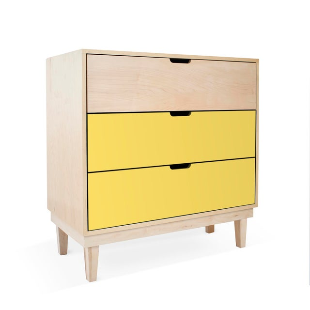 Kabano Modern Kids Maple Wood 3-Drawer Dresser. A simple elegant design, a modern take on a '50s inspired shape. Our...