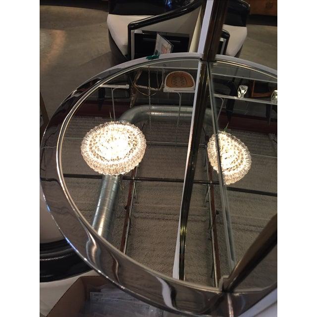 Mid Century Modern Design Institute America Chrome & Brass Mirror with Mirror Console - Image 5 of 11