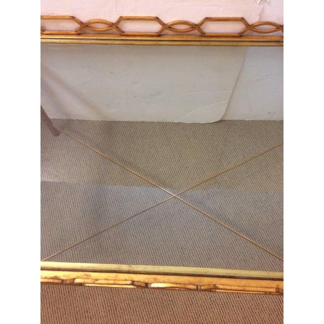 1970s Italian Gold-Leaf Coffee Table For Sale In Philadelphia - Image 6 of 9