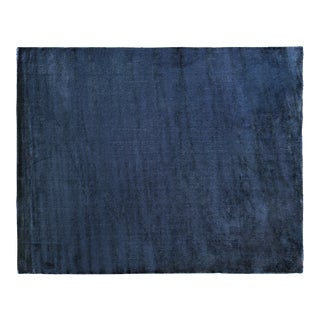 Exquisite Rugs Milton Hand Loom Viscose Navy Blue - 12'x15' For Sale