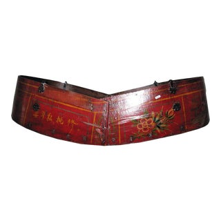 Antique Chinese Red Painted Cradle For Sale