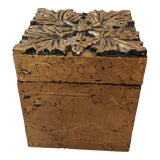 Image of Arts and Crafts Speer Decorative Gold Floral Box For Sale