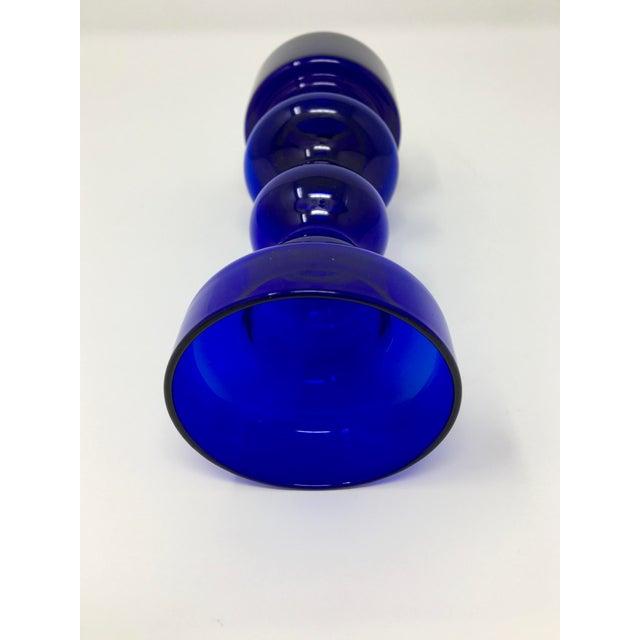 Scandinavian Modern Cobalt Blue Vase For Sale In Minneapolis - Image 6 of 9