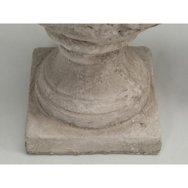 Artichoke Faux Stone Lamps - a Pair For Sale - Image 10 of 11