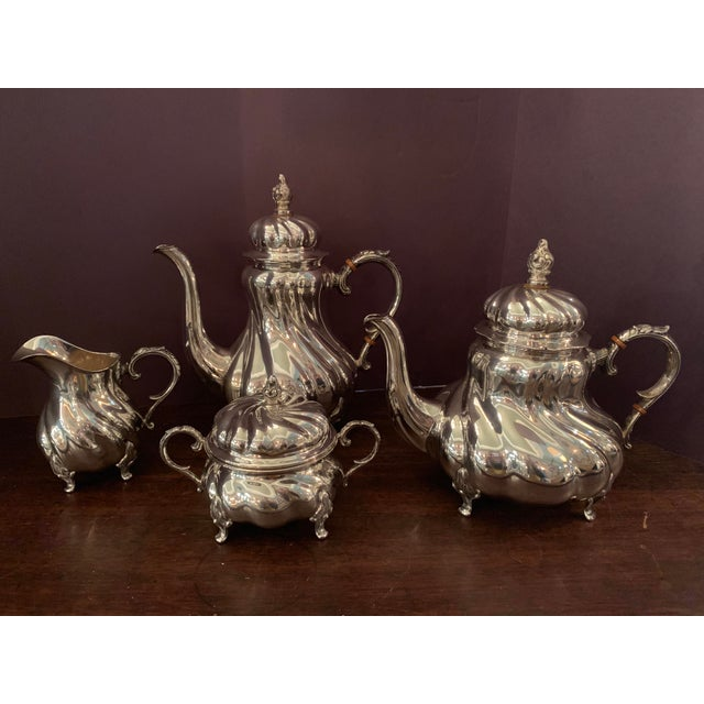 Handarbeit Sterling Silver Tea & Coffee Set - 4 Pc. Set For Sale - Image 13 of 13