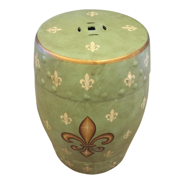 French Fleur De Lis Garden Stool | Chairish