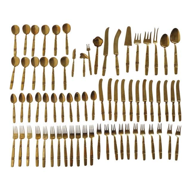 Thai Bronze Flatware - 70 Pieces - Image 1 of 6