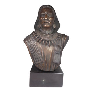 Large Bronze of an American Indian by Paul Moore Listed, Small Edition For Sale
