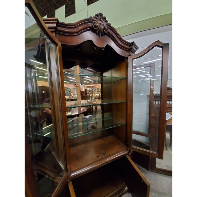 Mid 20th Century Vintage China Cabinet For Sale - Image 5 of 13