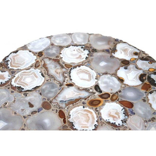 Gray Miriam Rogers Mosaic and Acrylic Table For Sale - Image 8 of 11