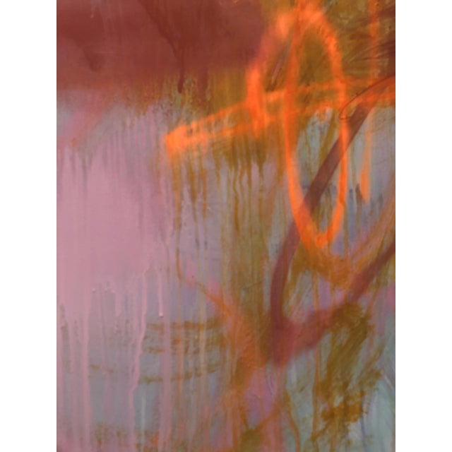 Abstract Acrylic Painting on Panel by Mirtha Moreno For Sale In West Palm - Image 6 of 12
