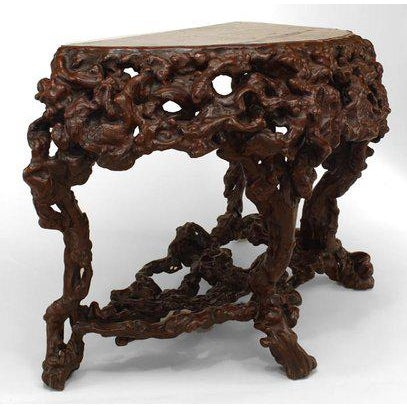 Asian Pair of Asian Chinese Rustic Style Root Console Tables For Sale - Image 3 of 6