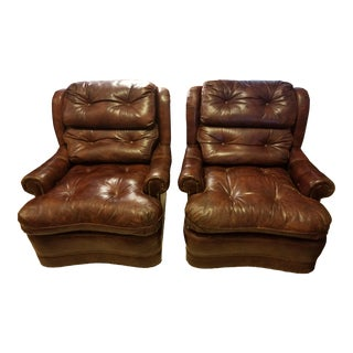Leathercraft Club Chairs - a Pair For Sale