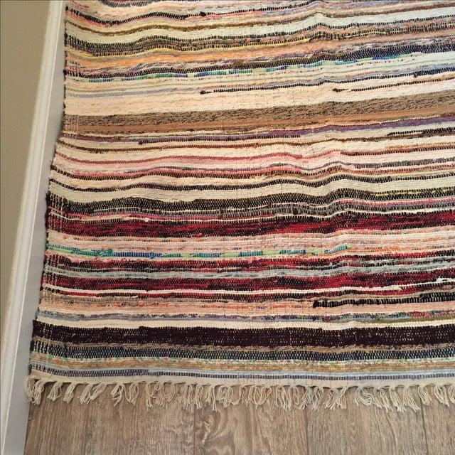 "Striped Turkish Rag Rug Runner- 10'3"" X 3'2"" - Image 3 of 10"