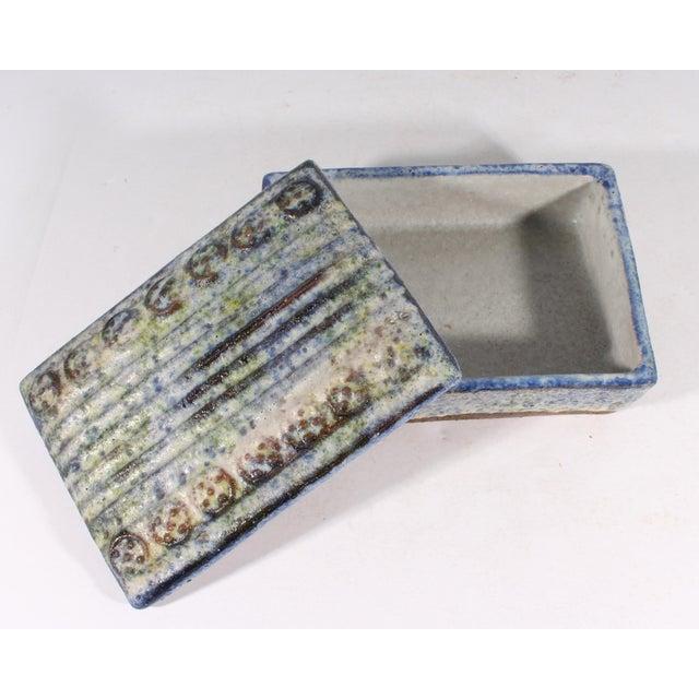 Alvino Bagni Alvino Bagni for Raymor Italian Mid-Century Blue and Green Dresser Box For Sale - Image 4 of 9