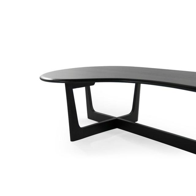 Asymmetric Mid-Century Modern Walnut Coffee Table For Sale - Image 9 of 11