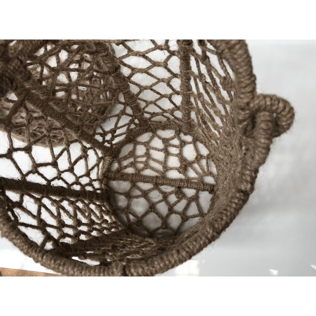Vintage Handcrafted Woven Jute Rope Buckets - Set of 3 For Sale In Chicago - Image 6 of 8