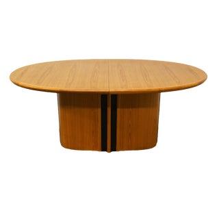 20th Century Danish Modern Skovby Solid Teak Dining Table For Sale
