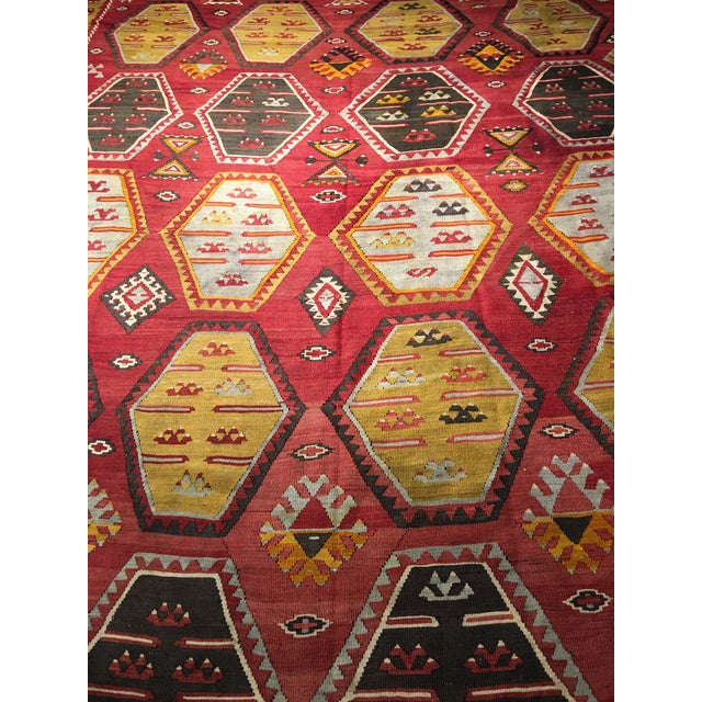 """Bellwether Rugs Vintage Turkish Kilim Rug - 8'8"""" x 11'2"""" - Image 4 of 9"""