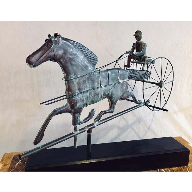 Folk Art St. Julien Weather Vane Attributed to j.w. Fiske 19th Century Full Bodied Metal For Sale - Image 3 of 12
