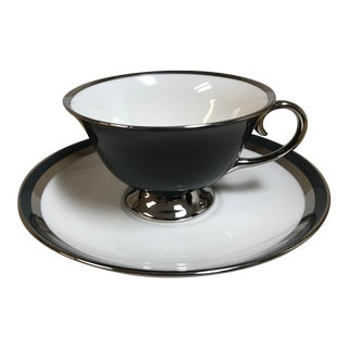 Flintridge Contessa Dutch Blue Cup and Saucer Set For Sale
