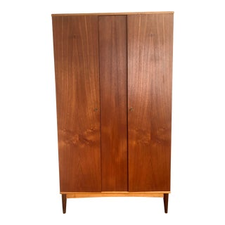 1960s Mid Century Teak Wardrobe For Sale