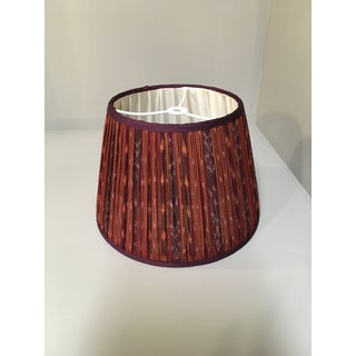 Penny Morrison Red Ikat With Blackberry Trim Lamp Shade Preview