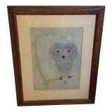 Image of Vintage Owl Drawing For Sale