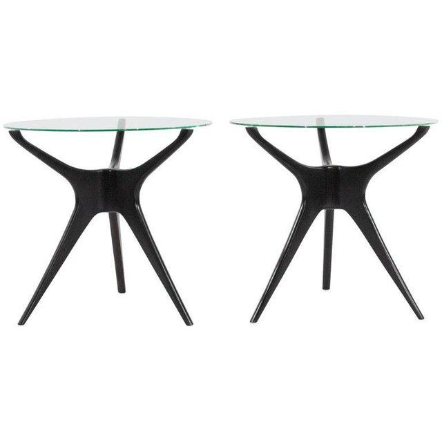 1950s Vladimir Kagan Walnut Trisymmetric End Tables - a Pair For Sale - Image 10 of 10