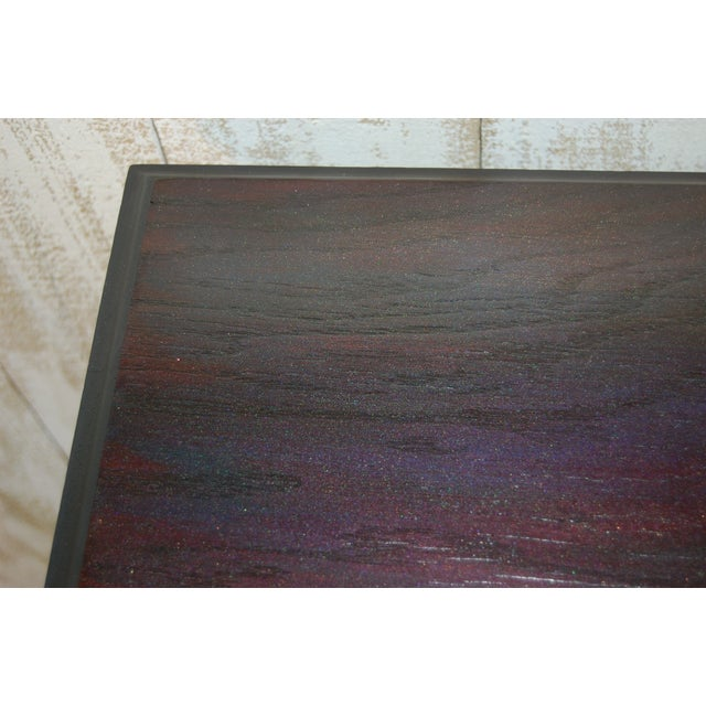 Black Table with Jewel Toned Surface - Image 7 of 8