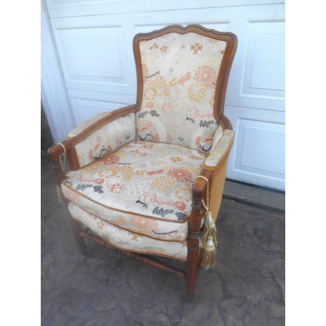 Heywood-Wakefield Vintage Heywood Wakefield Era Club / Fireside Arm Chair For Sale - Image 4 of 10