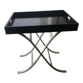 Ethan Allen Modern Glamour Tray Table For Sale