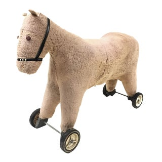 Antique, Rolling Toy Pony For Sale