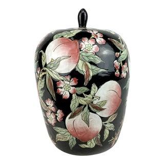 Vintage Famille Rose Ginger Jar With Peach Motif For Sale