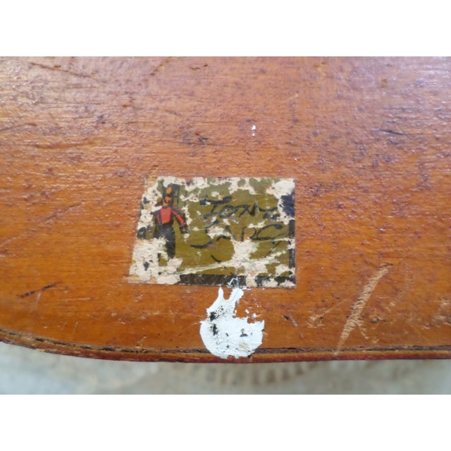 Antique Tony Sarg Nantucket Hand Painted Wooden Bride Box For Sale - Image 11 of 12