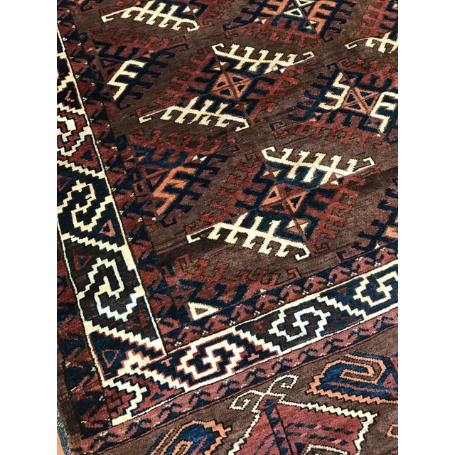 Antique Yomud Carpet - Image 3 of 4