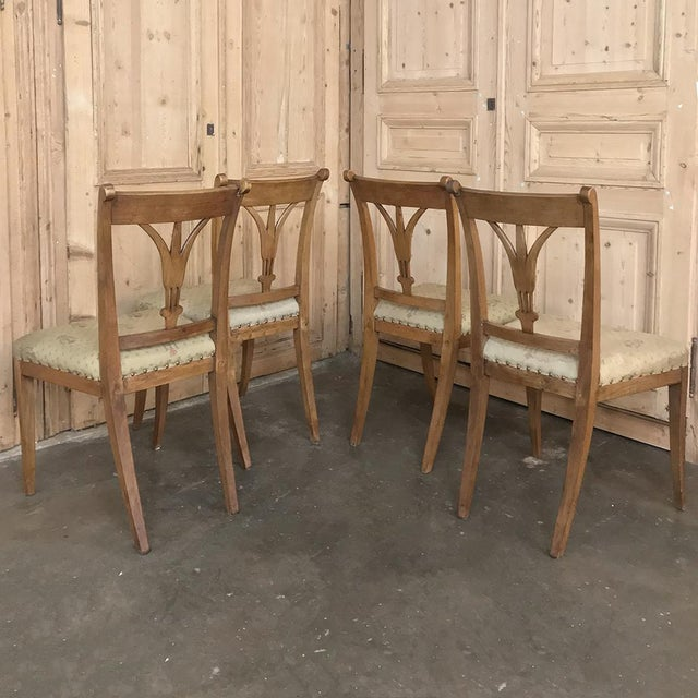 Set of Four 19th Century Swedish Directoire Style Chairs For Sale - Image 12 of 13