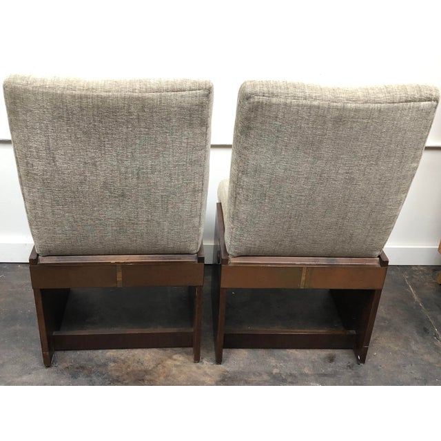 Lane Furniture Mid-Century Modern Lane Brutalist Side Chairs- A Pair For Sale - Image 4 of 12