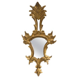 Giltwood Italian Small Mirror For Sale