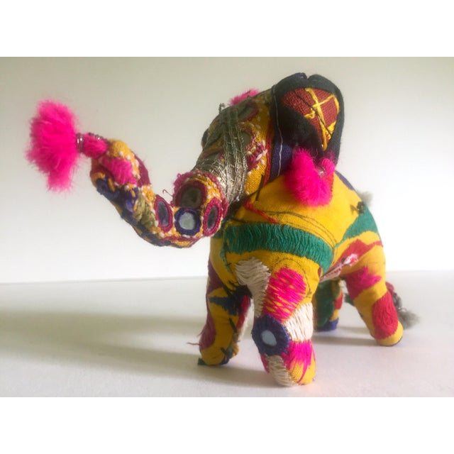 Vintage Indian Patchwork Elephant Figurine For Sale - Image 4 of 11