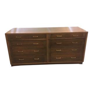 Mid-Century Walnut Lowboy Dresser For Sale